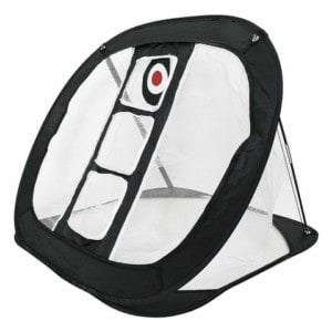Golf chipping net met target en 3 gaten om thuis chip-ins te oefenen.