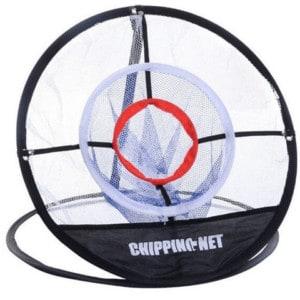 Golf chipping net met 1 target gat.
