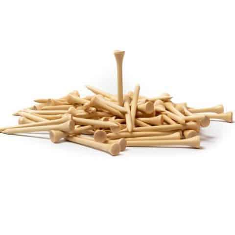 Bamboe Houten Tees 70 mm | 100 stuks | Snelle levering